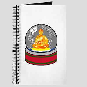Meditating Buddha in a Snow Globe Journal