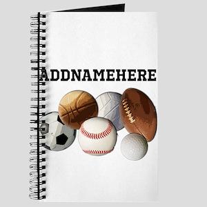Sports Balls, Custom Name Journal