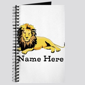 Personalized Lion Journal