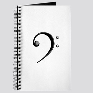 Bass Clef Casual Style Black White Journal