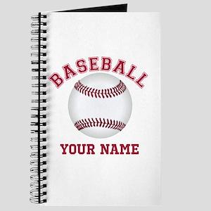 Personalized Name Baseball Journal