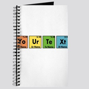 Personalized Your Text Periodic Table Nerd Journal