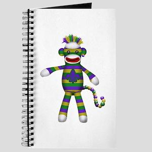 Mardi Gras Sock Monkey Journal