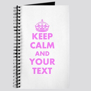 Pink keep calm and carry on Journal