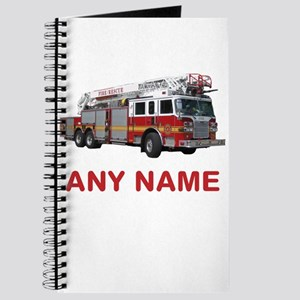 FIRETRUCK with Any Name or Text Journal
