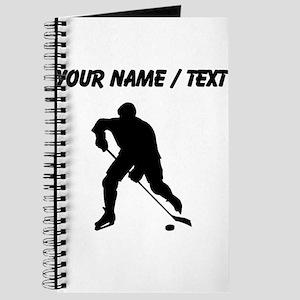 Custom Hockey Player Silhouette Journal