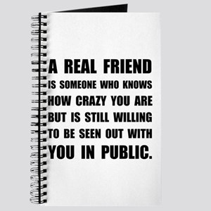 Real Friend Crazy Journal