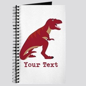 Red T-Rex Dinosaur with Custom text Journal