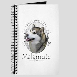 Life's Better Malamute Journal