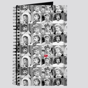 I Love Lucy Face Collage Journal