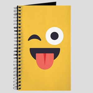 Winky Tongue Emoji Face Journal