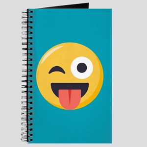 Winky Tongue Emoji Journal