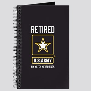 US Army Retired Watch Never Ends Journal