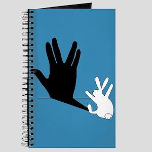 Star Trek Rabbit Vulcan Hand Shadow Journal