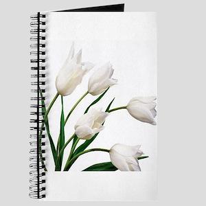 Snow White Tulip Flowers Journal