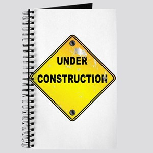Yellow Under Construction Sign Journal