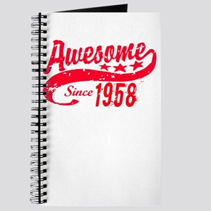 Awesome Since 1958 60 Years Old Birthday Journal