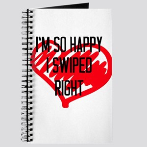 Valentines Day Gift So Happy I Swiped Righ Journal