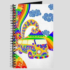 Retro Rainbow Hippie Van Journal
