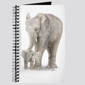 Mother and baby elephant Journal
