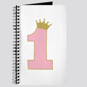 1st Gold and Pink princess birthday girl Journal