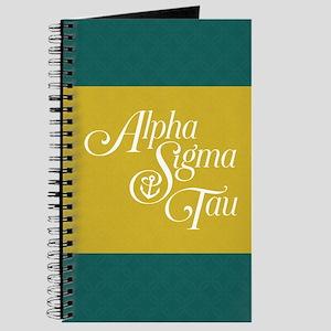 Alpha Sigma Tau Green Yellow Logo Journal