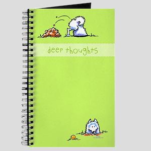 Samoyed Eskie Deep Thoughts Journal