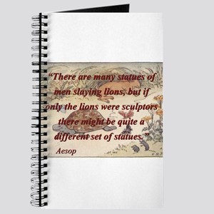 There Are Many Statues Of Men - Aesop Journal