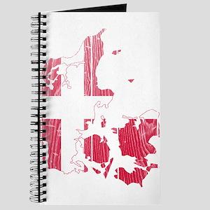 Denmark Flag And Map Journal