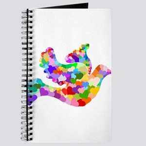 Rainbow Dove of Hearts Journal