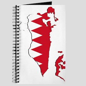 Bahrain Flag and Map Journal