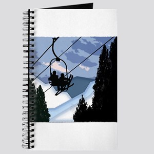 Chairlift Full of Skiers Journal