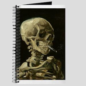 Skull of a Skeleton with Burning Cigarette Journal