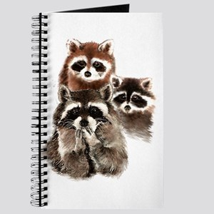 Cute Watercolor Raccoon Animal Family Journal