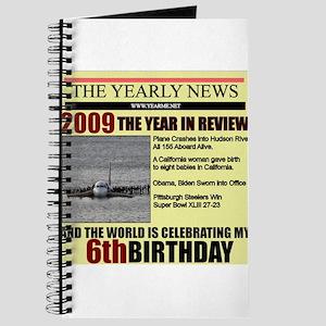 6 birthday Journal