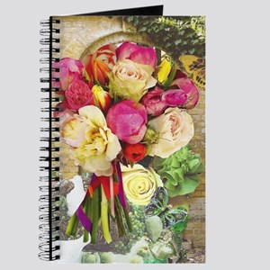 Vibrant Peonies and Roses Journal