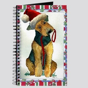 Airedale Terrier Dog Christmas Journal