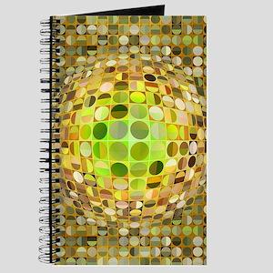 Optical Illusion Sphere - Yellow Journal