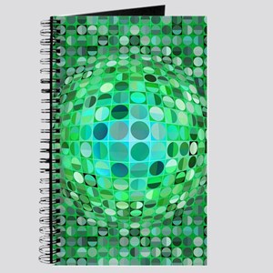 Optical Illusion Sphere - Green Journal