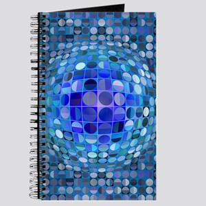 Optical Illusion Sphere - Blue Journal