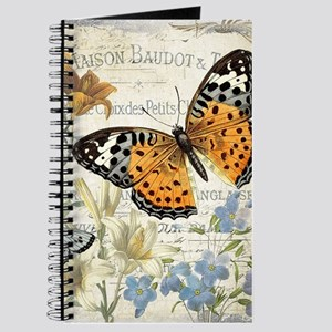modern vintage butterfly Journal