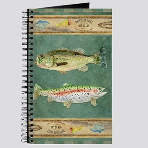 Fishing Cabin Lake Lodge Plaid Decor Journal
