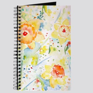 Watercolor Daffodils Pattern Journal