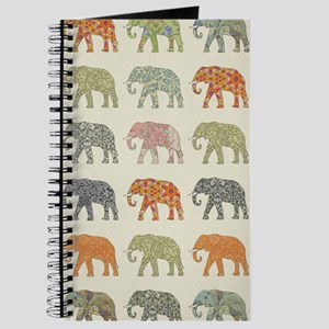 Elephant Colorful Repeating Pattern Decora Journal