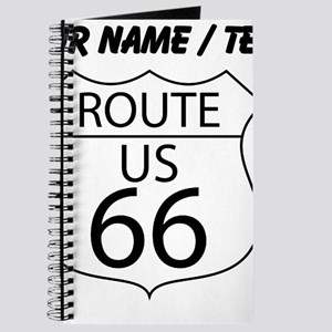 Custom U.S. Route 66 Sign Journal
