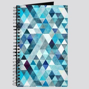 Watercolor Triangles Blue Journal