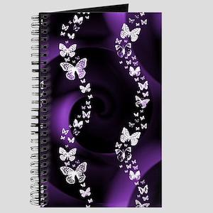Purple Butterfly Swirl Journal