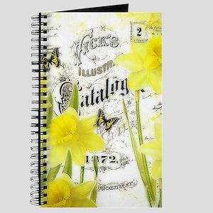 Vintage daffodils Journal