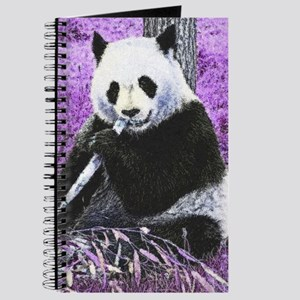Funky lilac Panda Journal