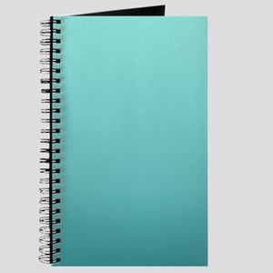 watercolor teal ombre Journal